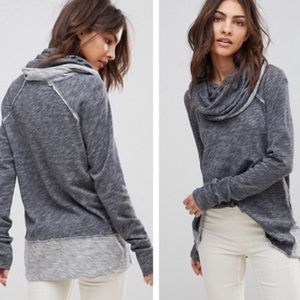 Free People Beach Cocoon Pullover in grey